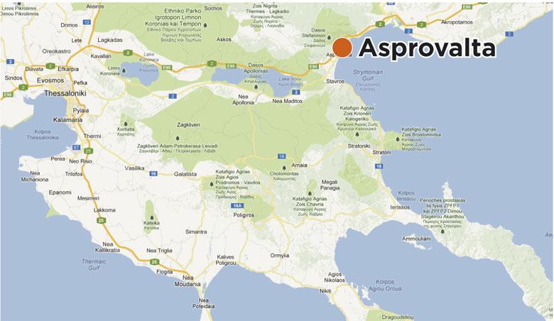 Mapa Grcke Asprovalta Skouras Agencija